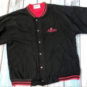 Vtg Fahrenheit Aspen Mens Jacket Black